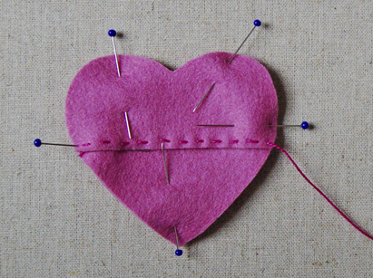 sew heart together