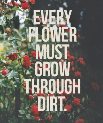Every Flower Must Grow Through Dirt.