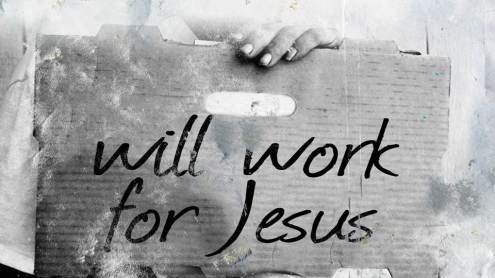 Will Work for Jesus Sign
